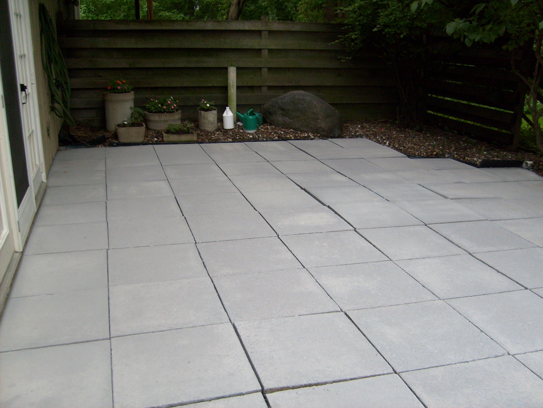 Concrete Patio After Siloxane Sealer